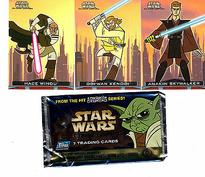 Star Wars Clone Wars Cartoon 90 card base set & Wrapper