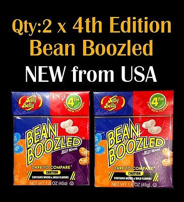 2 x NEW 4th Edition Jelly Belly BeanBoozled 45g - beanboozled challenge