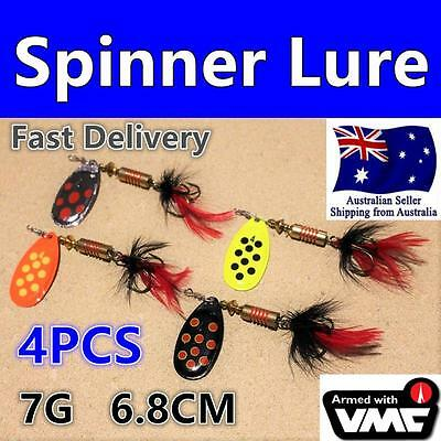 4X 7g Spinner Fishing lure Trout Redfin Bream Bass Perch Cod yellowbelly No.3