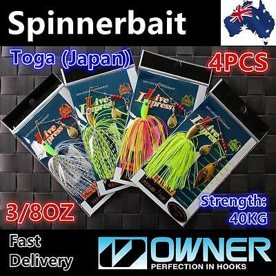 4 X 3/8oz 10g Bass Yellowbelly Cod Spinnerbait Spinner Bait Toga Fishing Lures