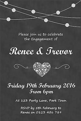 Personalised Engagement Party Invitation – You Print