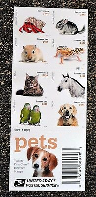 2016USA #5106-5125 Forever - Pets - Booklet of 20    Mint  postage stamps