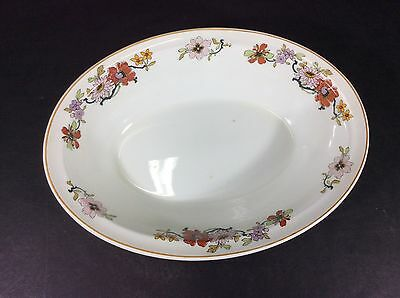 """Beautiful Vintage Johnson Brothers England Floral 9"""" Oval Vegetable Serving Dish"""