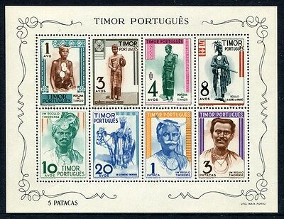 Timor 1948 Trachten Traditional Costumes Folklore Block 1 ** MNH