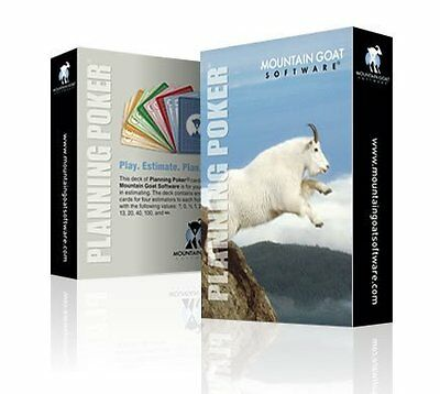 Agile Planning Poker Cards Mountain Goat Software New Professional High Quality