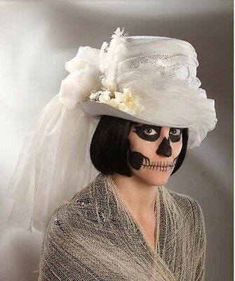 Halloween Zombie Bride Haunting Masquerade Hat Costume Prop Bethany Lowe RL4714