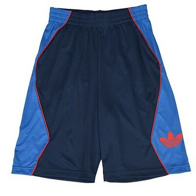 NWT adidas Originals Boys / Kids Baggy Hoop Shorts US: SMALL  S23448  BLUE / Red