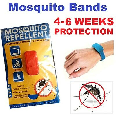 100% Oil Anti Mosquito Repellent Bands Wrist Ankle Waterproof Adjustable Defense
