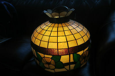 """Vintage Tiffany Style Hanging Stained Slag Glass Ceiling Dome Fixture Light 20"""""""