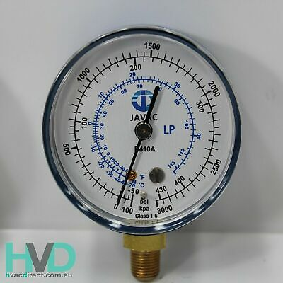 Refrigeration Gauge – R410a - Blue Low Side Compound Gauge 62mm – JV56201