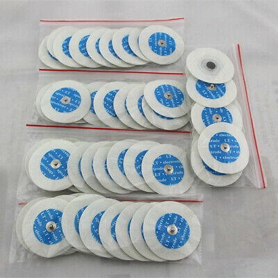 US 50PCS  Electrode pads for Portable Handheld Easy Home ECG EKG Heart Monitor