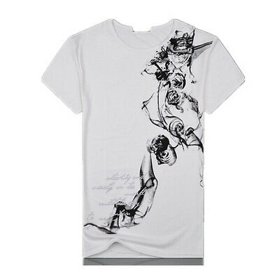 Crew Neck T-Shirt Men's New Custom Fit Short Sleeve Chinese style M-2XL