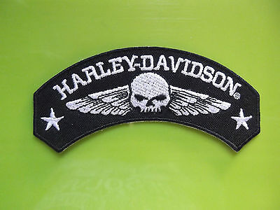"""skull & Wings Harley Davidson New Edition Patch"""