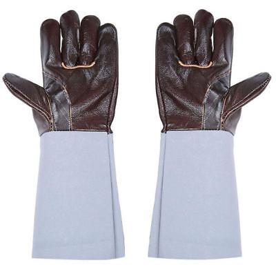 2pcs Unisex Long Leather Welding Industrial Working Wear Protective Gloves Lin