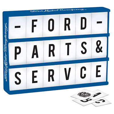 FORD Light Up Box Sign Comes with 85 Letters & Ford Symbols Man Cave Bar Gift