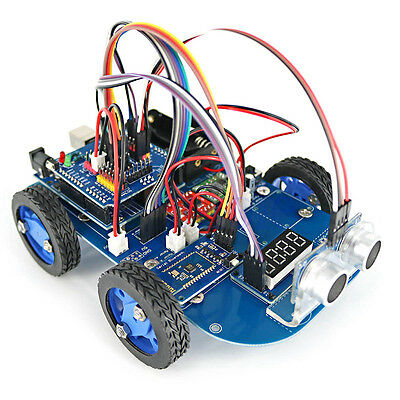 N20 Gear Motor Toy 4WD Bluetooth Smart Robot Car Chassis Kit DIY for Arduino DT