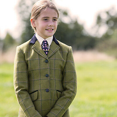 Equetech Adstock Junior Deluxe Tweed Show Jacket Sizes 22 to 34 + Worldwide P&P