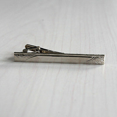 Mens Alloy Metal Fashion Silver Simple Necktie Tie Pin Bar Clasp Clip Gift MO