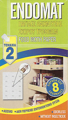 SET 2 pcs ENDOMAT FOOD MOTH PAPER TRAP ODORLESS FOR 8 WEEKS WITHOUT INSECTICIDE