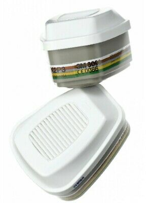 3M 6099 1 Pair Cartridges A2B2E2K2P3 Combined Vapour and Particulate Filter Pack