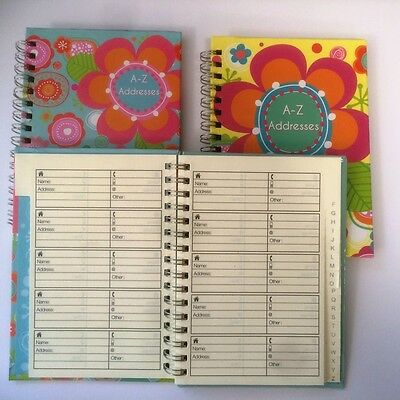A6 Patterned  Address Book, Tabbed And Lined In A Choice Of 2 Colour Designs
