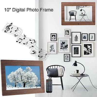 "10"" LED Digital Photo Frame Full HD Clock Music Video Player with Remote Control"