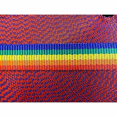 Rainbow Colours Polypropylene Webbing 25 mm  1 Inch For Leads Straps x 10 Metres