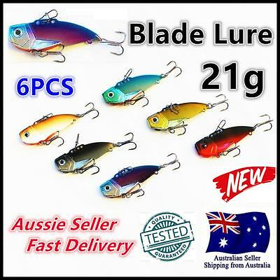 6X 21g 3/4oz 68mm Fishing Switchblade Blade VIBE VIB Metal Lures Jew Salmon King