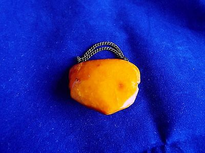 Antique Baltic Amber Egg Yolk Butterscotch Brooch 10 Gr!!!