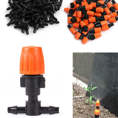 1/10pc Garden Plant Misting Ajustable Atomizing Sprinkler Nozzles Tee Irrigation