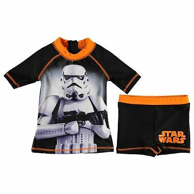 Boys Disney Star Wars swimming top and trunks shorts ages 2 through to 13 BNWT