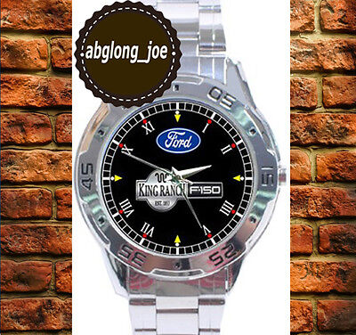 New FORD KING RANCH F-150 Custom Fashion Chrome Men's Casual Watch Wristwatches