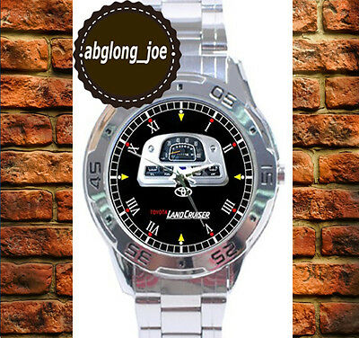 New TOYOTA LAND CRUISER FJ SPEEDOMETER Chrome Men's Casual Watch Wristwatches