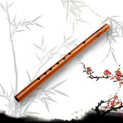 Traditional 6 Hole Long Bamboo Flute Clarinet Beginner Musical Instrument Wood