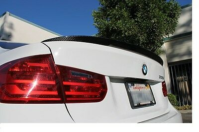 Carbon Fiber BMW 3 Series F30  Rear Trunk Spoiler 12-16 -Performsnce Style