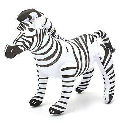 "New 20"" PVC Inflatable Giant Zebra Blow Up African Animal Themed Party Toy"