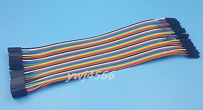 40p 20cm 2.45mm Dupont Wire color test line 1p-1p  Jumper line female to female