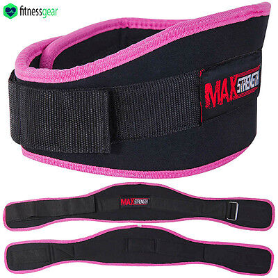 Womens Weight Lifting Fitness Gym Pink Belts Back Support Ladies Training Belts