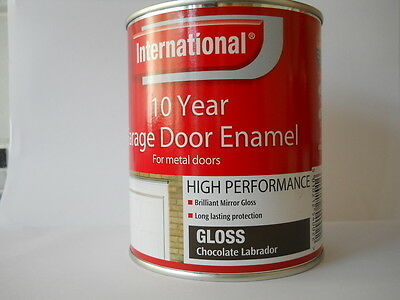 INTERNATIONAL 10 YEAR GARAGE DOOR ENAMEL PAINT FOR METAL DOORS 750ml TOP QUALITY