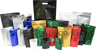 Sample -  Heat Seal Aluminium Foil Stand Up Pouches Zip Lock Bag Food Grade