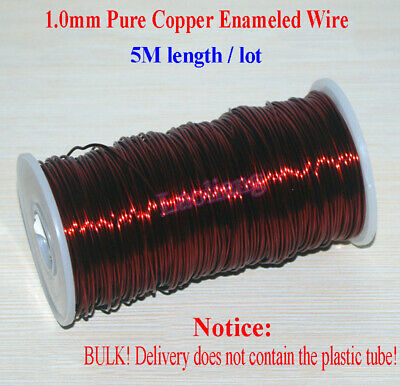 5M(16.4ft) High Temperature Pure Copper Enameled Wire 18GA 1.0MM Magnet Wire