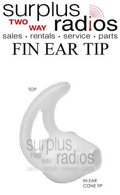 Fin Earpiece for Motorola two way radio headsets CP200D XPR6550 XPR7550 CP200