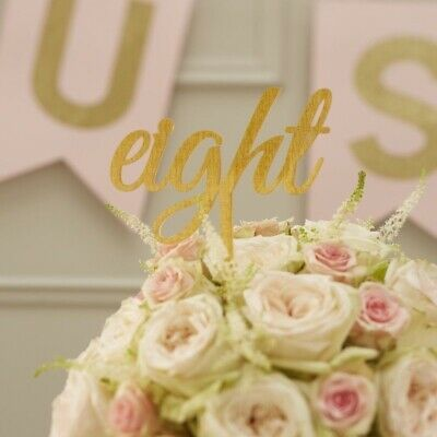 Gold Table Numbers 1-12 - Pastel Perfection Range - Wedding Centre Piece