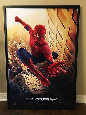 Large Size Framed Movie Theater  Poster Spider Man  Professionally Framed
