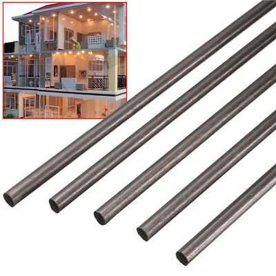 5pcs 4 mm Diameter x 500mm Carbon Fiber Rods For RC Airplane Matte Pole