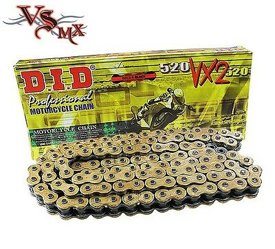 DID 520 VX GB X-Ring Gold Supersport Motorcycle Drive Chain 118 link