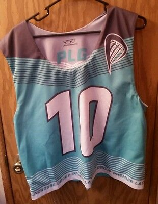 Reversible Green & White Premier Lacrosse Group #10 Jersey Man S/M