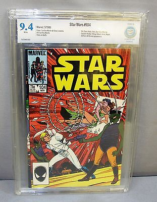 STAR WARS #104 (White Pages) CBCS 9.4 NM Marvel Comics 1986 cgc