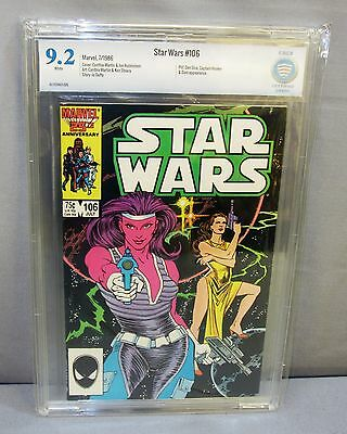 STAR WARS #106 (White Pages) CBCS 9.2 NM- Marvel Comics 1986 cgc