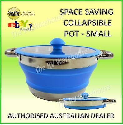 Small Collapsible Silicone Pot New Space Saving Caravan Camping RV  Boat Kitchen